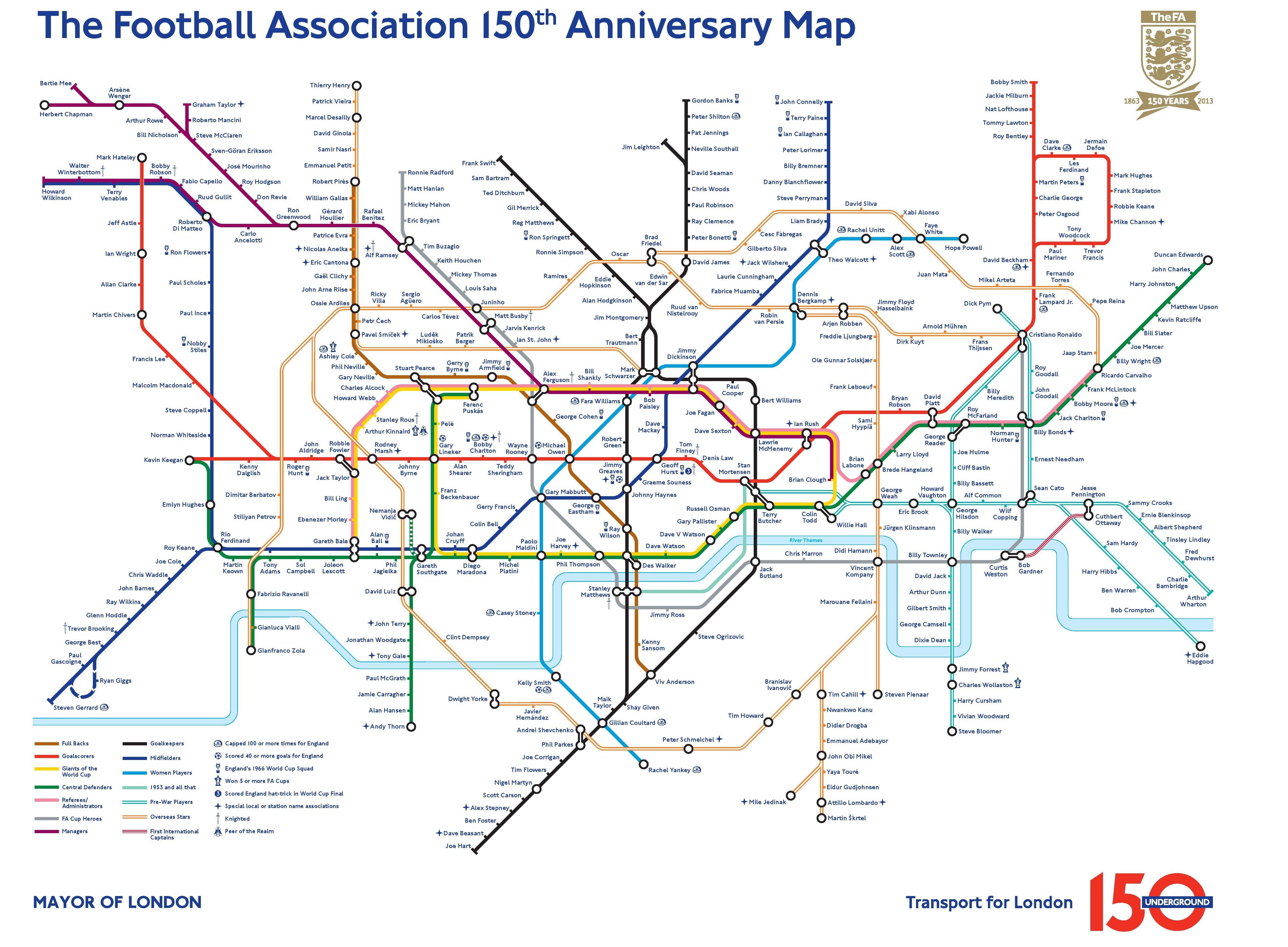 Legendele Fotbalului Mutate In Subteran Harta Metroului Din