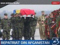 Trupul soldatului român ucis în Afganistan a fost repatriat