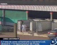 Franţa. Carne infestată cu bacteria E.coli a fost vândută în peste 100 de hipermarketuri