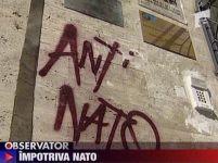 Mesaje anti-NATO, pe zidurile clădirilor din Capitală