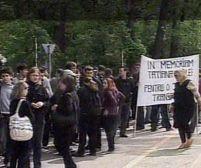 Bucureşti. Marş al tăcerii în memoria studentei lovite mortal pe o trecere de pietoni (VIDEO)