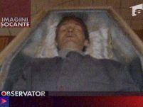 Chipul morţii. Imagini şocante de la înmormântarea lui Claudiu Crulic