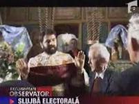 Un primar a încercat să-şi facă reclamă electorală în... biserică (VIDEO)