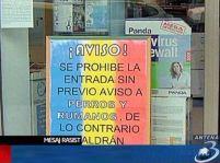 """Un afiş interzice intrarea """"câinilor şi românilor"""" într-un magazin din Spania"""