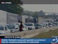 Preţul carburanţilor provoacă nemulţumiri. Şoferii, fermierii şi pescarii au protestat în Spania