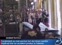Patru români au accidentat un cuplu de italieni din Salerno