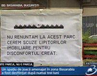 Lanţ viu în Bucureşti pentru salvarea parcului Basarabia
