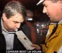 Comisar din Iaşi, prins băut la volan chiar de colegii lui