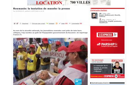 France24:  România în pericol de a realuneca spre dictatură (VIDEO)