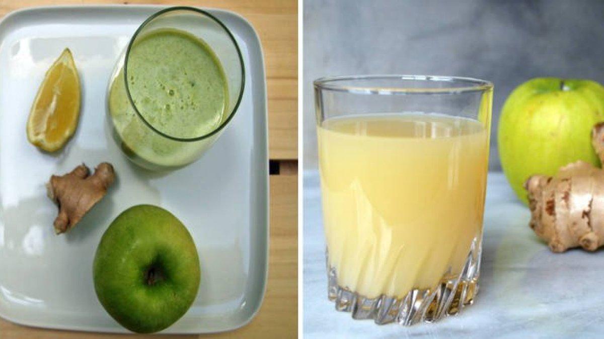 Cum sa faci un mere detoxifiant, suc de ghimbir si lamaie - rețete