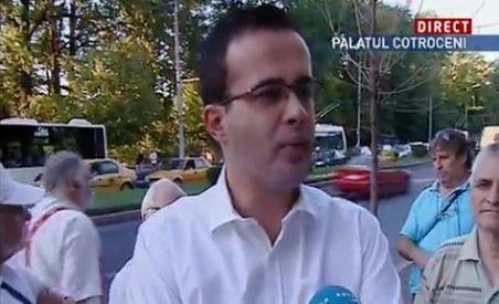 Mihai Gîdea, în mijlocul protestatarilor de la Cotroceni. Ce mesaj le-a transmis oamenilor