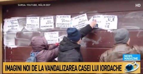 Noi imagini de la vandalizarea locuinței lui Florin Iordache