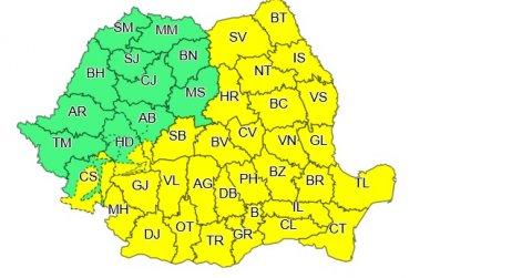 VREMEA. Cod galben de ninsori pentru 32 de județe ale țării și București