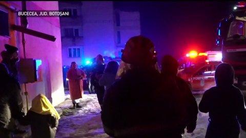 Panică într-un bloc din județul Botoșani. Zeci de copii și adulți s-au intoxicat cu fum