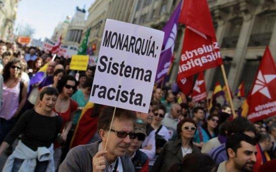 Peste 8.000 de spanioli au ieşit în stradă. Manifestanţi cer sfârşitul monarhiei în Spania