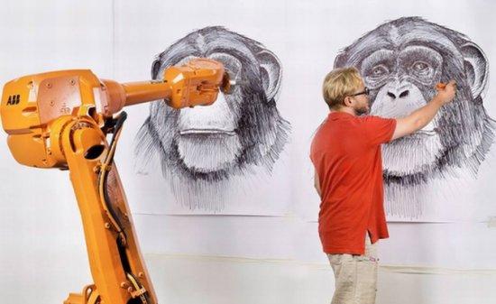 premiera absoluta in istoria artei trei tablouri identice create simultan cu ajutorul unor roboti 227409   Datel IT Web design ,creare site,realizare site,magazin online,blog
