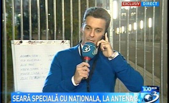 """Mircea Badea, reporter sportiv, în direct de la Arena Naţională. """"Atmosfera este absolut superbă"""" 768"""