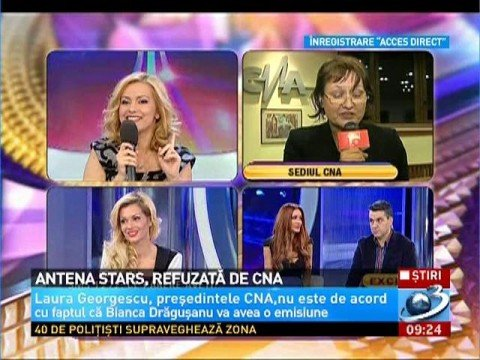 Antena Stars, refused by the CNA. Laura Georgescu does not approve that Bianca Drăguşanu should have her own show 114