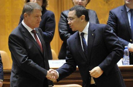 Preşedintele Klaus Iohannis şi premierul Victor Ponta se întâlnesc luni la Palatul Cotroceni 407
