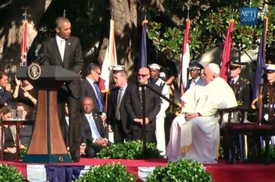 Întâlnire istorică. Barack Obama l-a primit la Casa Albă pe Papa Francisc 127
