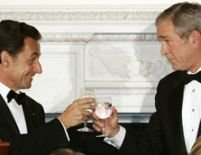 Sarkozy şi Bush pun la cale reconcilierea franco-americană