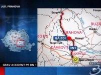 Microbuz implicat într-un accident pe DN1. 13 persoane au fost rănite