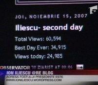 Iliescu promite ca blogger: 60.000 de vizite în 2 zile <font color=red>(VIDEO)</font>