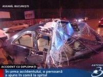O maşină a ambasadei Belgiei a fost implicată într-un accident