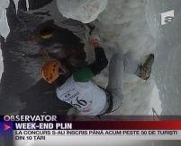 La Buşteni se pegătesc campionatele mondiale de căţărare pe gheaţă <font color=red>(VIDEO)</font>