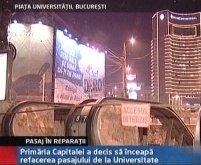 Lucrări în Capitală. 4 milioane euro pentru refacerea pasajului de la Universitate