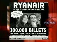 Ryanair, acuzată că a folosit imaginea lui Sarkozy pentru publicitate