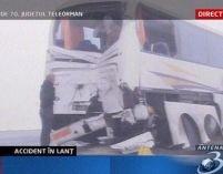Teleorman. 20 de maşini au fost implicate într-un accident în lanţ <font color=red>(VIDEO)</font>