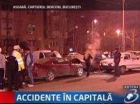 Noapte plină de accidente în Capitală