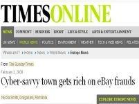 """Sunday Times: """"românii din Drăgăşani s-au îmbogăţit din fraude pe eBay"""""""