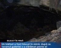 Bărbat blocat de 15 ore într-o mină din Maramureş