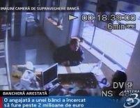 O bancheră a încercat să fure 2 milioane de euro de la banca la care lucra