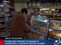 Protest inedit în Croaţia. Cetăţenii renunţă la produsele alimentare