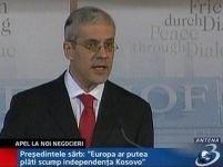 Tadici cere noi negocieri pentru protecţia sârbilor din Kosovo