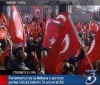 Turcia. Proteste de amploare faţă de purtarea vălului islamic