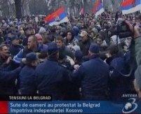 Tensiuni la Belgrad pe fondul iminentei proclamări a independenţei Kosovo