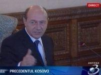 Băsescu: Independenţa Kosovo, ilegală. Orice comparaţie cu România, lipsită de fundament