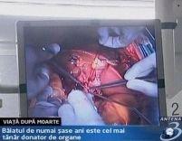 Un copil de şase ani - cel mai tânăr donator de organe din România