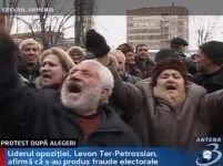 Opoziţia din Armenia contestă alegerea premierului Sarkissian ca preşedinte