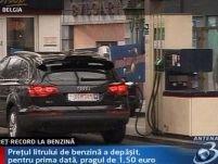 Record nedorit în Belgia. Preţul litrului de benzină a depăşit 1,5 euro