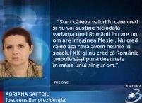"""Adriana Săftoiu: În PDL domneşte frica de """"Mesia"""" şi de Elena Udrea"""