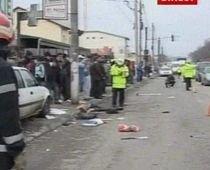 Un şofer a lovit şapte pietoni aflaţi pe trotuar. O persoană a decedat în urma accidentului