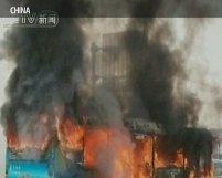 Accident dramatic în China. 24 de oameni au murit după ce un autobuz a luat foc (VIDEO)
