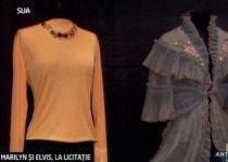 Haine, bijuterii şi alte obiecte care au aparţinut lui Elvis Presley şi Marilyn Monroe, scoase la licitaţie