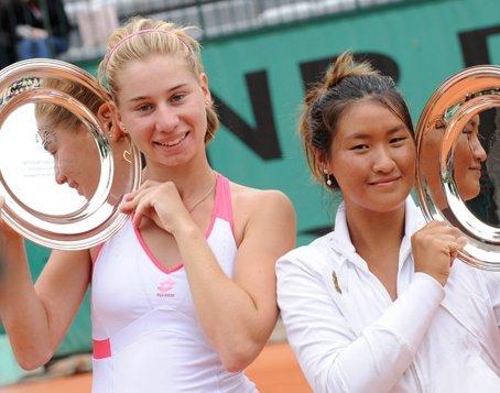 Elena Bogdan, campioană la Ronald Garros în proba de dublu-fete