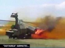 Un lansator de rachete al armatei române explodează în timpul unui exerciţiu de tragere (VIDEO)